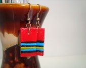 Abstract Hand painted Contemporary Earrings