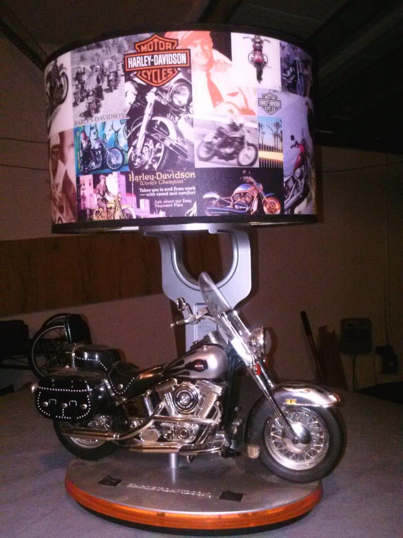 Vintage Harley Davidson Table Lamp
