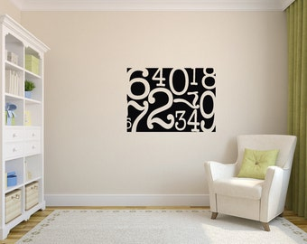 Numbers Canvas Decal - Vinyl Wall Decal