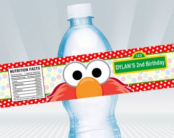 Elmo Water Bottle Label