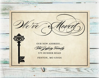 Printable Key We've Moved Announcement - Digital File