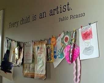 HUGE! Every Child is an Artist Vinyl Vinyl Wall Decal LARGE