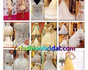 YZ SWAROVSKI Luxury Crystals Dream Beautiful Gown