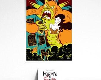 Monsters and pin-up: King Kong