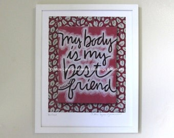 Best Friend PRINT from AliceLynnGreenwood Original Art FASHION STATEMENTS Collection