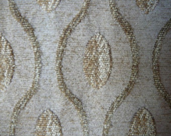 Two tone gold chenille scalloped stripes
