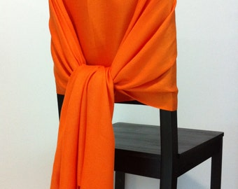 Orange pashmina , pashmina scarf, pashmina shawls, wedding shawls, pashmina wrap, bridesmaid shawls, wedding favors, chair covers