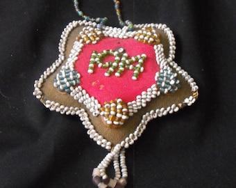 Antique Indian Beaded Pincushion