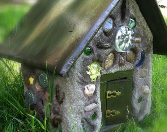 Custom large fairy houses for the garden or wherever a little magic is needed.