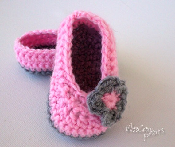 Items similar to Newborn Baby crocheted ballet shoes ...