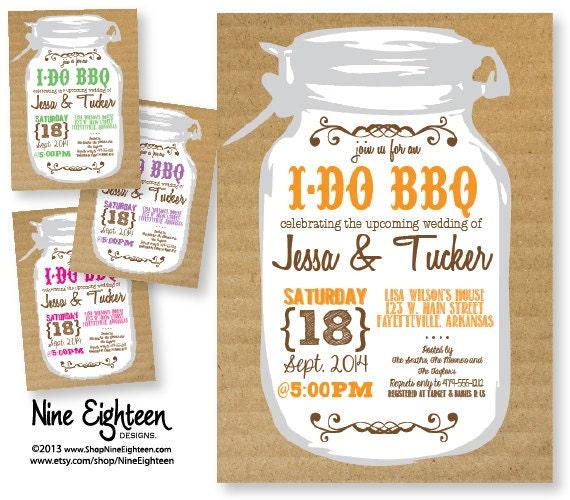 Wedding Shower Invitation I Do BBQ Theme Custom By