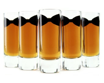 2 - Groomsmen and Best Man Gifts // Personalized Bow Tie Shot Glasses
