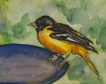 """This is a print of my original watercolor painting titled """" Taking a Break"""".5x7,8x10,11x14,16x20, wrapped canvas, note cards"""