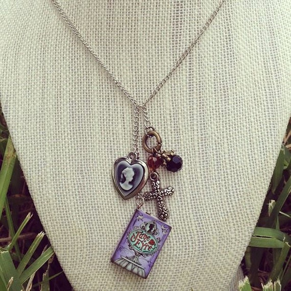 Jane Eyre inspired charm necklace