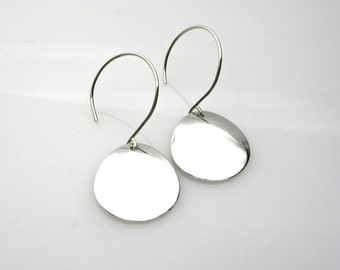 Simple round sterling silver earrings - light and classy