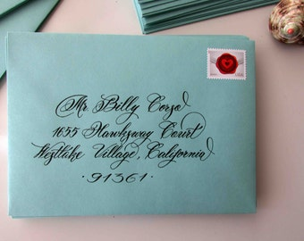 Custom Hand Wedding Calligraphy Envelope Addressing