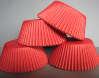 50 Premium Solid Red Cupcake Wrapper/ Red Baking Cups/ Red Cupcake Liners