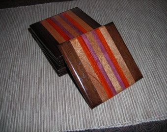 Handmade Wood Coaster Set***FREE SHIPPING***