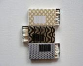 Matchboxes / F. Scott Fitzgerald Mini Books / Set of 24 / 1920s Art Deco / Metallic Shimmer / Wedding Party Favors / Gatsby