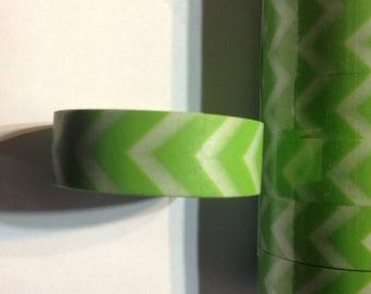Green Chevron Washi Tape