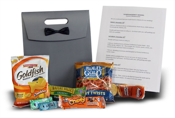 Wedding Hotel Guest Gift Bags: Personalized Wedding Welcome Bags// Destination Wedding