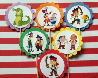 Jake and the Neverland Pirates Cupcake Toppers