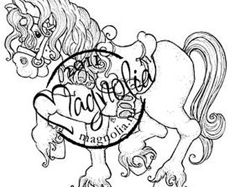 Tilda's Princess Horse - Magnolia rubber stamps
