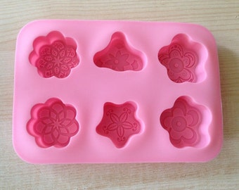 Cake Mold Soap Mold 6-Snowflake Flexible Silicone Mold Candle Candy Chocolate Cake Fimo Resin Crafts DIY Mold in Handmade