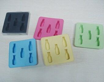 Bottle Flexible Ice Tray Ice Mold Flexible Silicone Mold diy Mold in Handmade