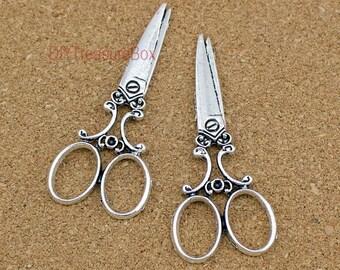 10pcs Scissors--Antique silver  Scissors Charms pendants,ScissorsConnector 25x60mm
