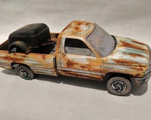 Classic Model Car Pick-up Truck by Dodge, Rusted wrecks