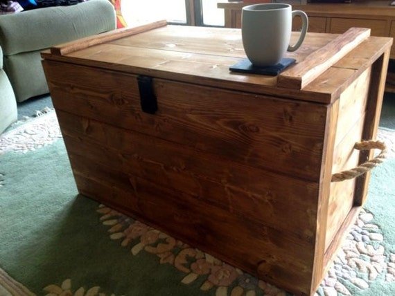 Wooden Chest Trunk Blanket Box Coffee Table By Wcountrywoodworking