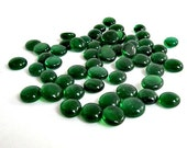 50 Emerald Green Mini Glass Gems, Glass Nuggets, Mosaic Glass Pebbles, Victory 2401