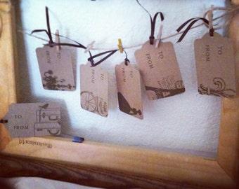 Vintage Paris Gift Tags