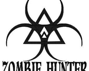 Zombie Hunter Machine Embroidery pattern