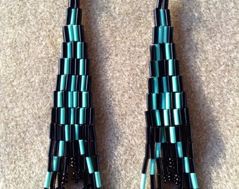Traditional Native American seed bead earrings