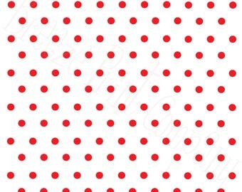 White with red polka dots craft  vinyl sheet - HTV or Adhesive Vinyl -  polka dot pattern   HTV23