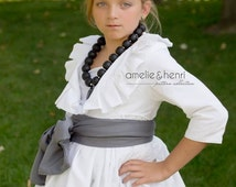 Tween Amelie's Pleated Ruffle Jacket PDF Pattern