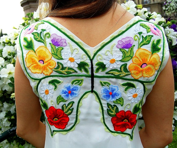 Items similar to floral design ukrainian butterfly prom
