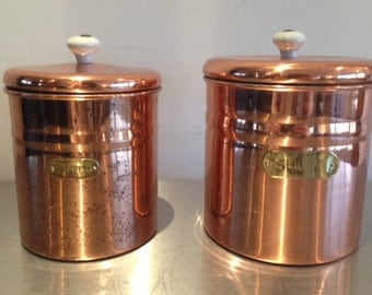 how to clean copper canisters