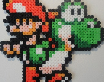 Yoshi & Baby Mario Bead Sprite