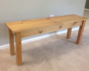 Farmhouse Bench (Golden Oak)