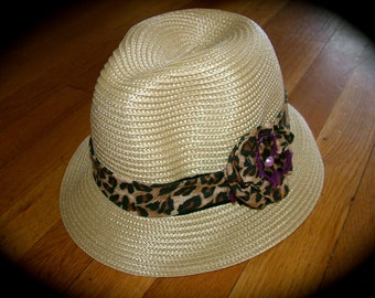 NEW ITEM!!! Detachable Headband and Hair Clip in Animal Print. May be purchased with hat or separately!