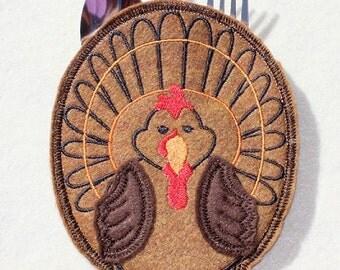 Turkey Silverware Holder Cutlery Holder embroidered on Felt
