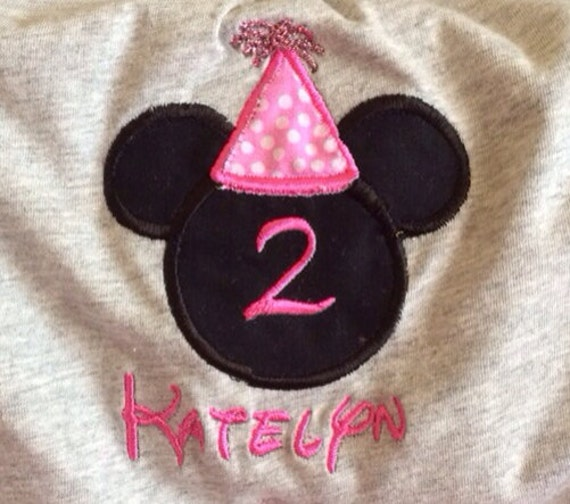 Birthday Mickey Mouse Disney Font Personalized