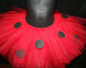 Red Ladybug Tutu Skirt, Infant Red Tutu Skirt, Red Children's Tutu, Tutu Skirt Newborn baby