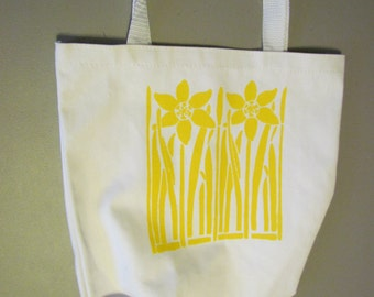 daffodil screenprinted bag
