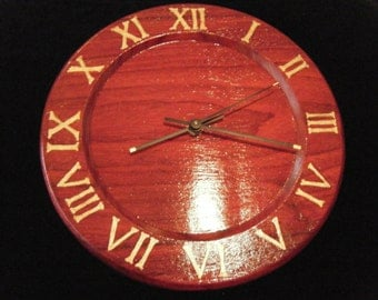 Carved Roman Numeral Clock