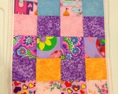 """Quilt for a Barbie size doll bed 9""""x12"""""""