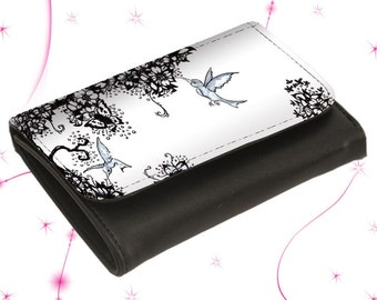 "Leather wallet purse ""Hummingbird"""
